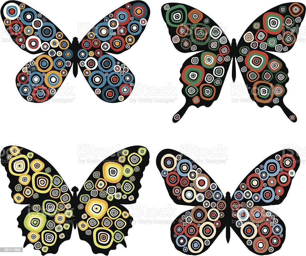 Estampas borboletas - Vetor de Arte royalty-free