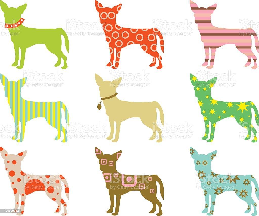 chihuahuas à motif - Illustration vectorielle