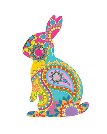 Patterned Easter Rabbit