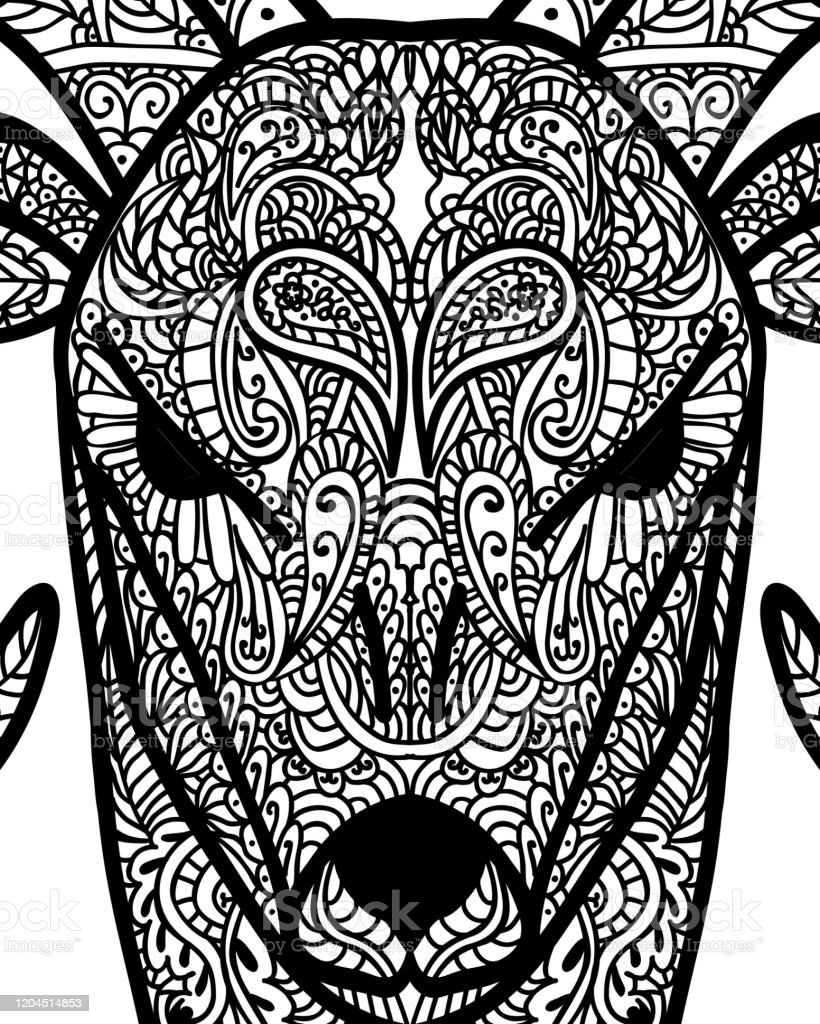 - Patterned Head Of Goat Tattoo Design Coloring Page It May Be Used