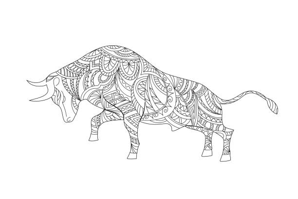 420 Bull Coloring Pages Illustrations Clip Art Istock