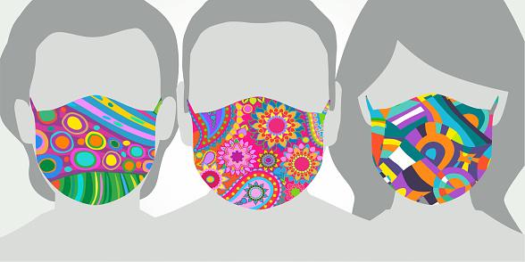 Patterned Protective face masks