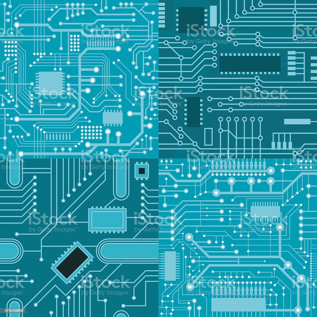 patterns computer board vector art illustration