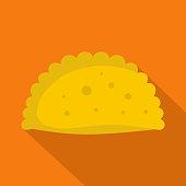 Pattie icon. Flat illustration of pattie vector icon for web
