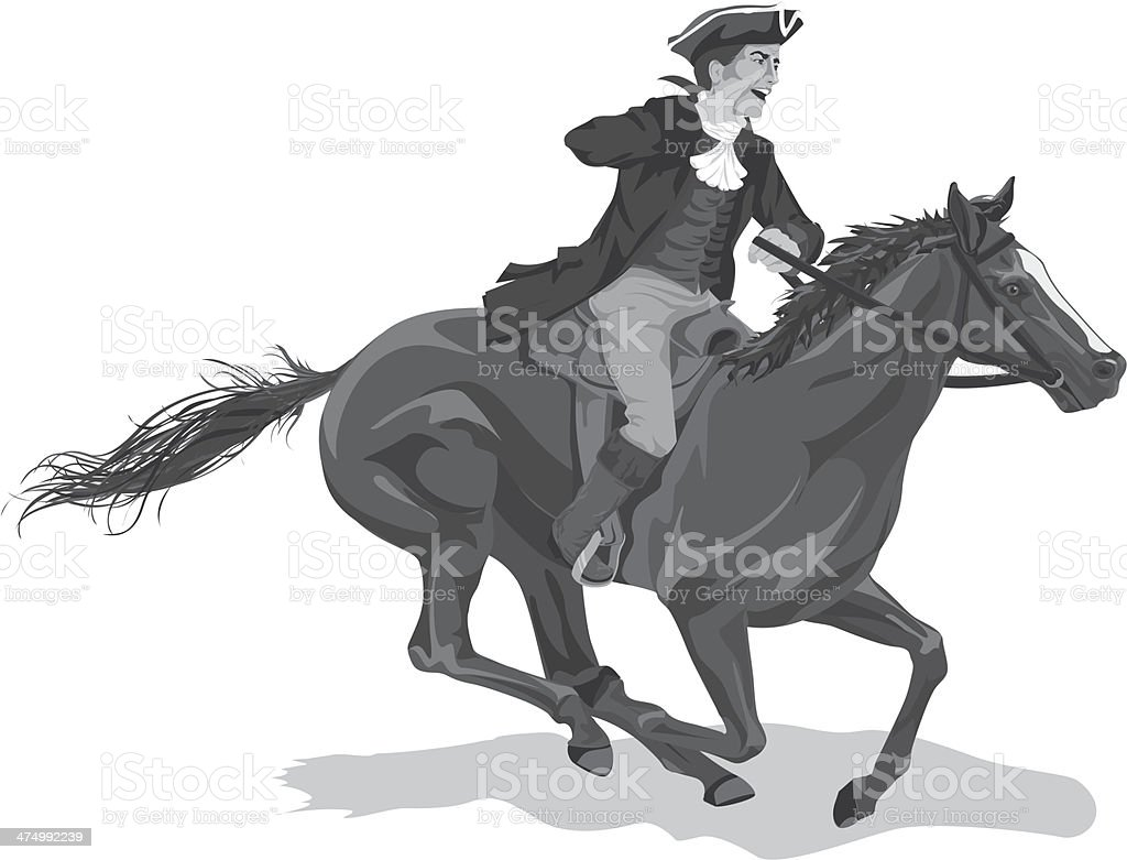 royalty free silhouette of the paul revere clip art Paul Revere House Paul Revere's Ride