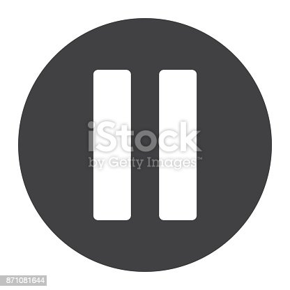 istock Pause glyph icon, web and mobile, stop sign 871081644