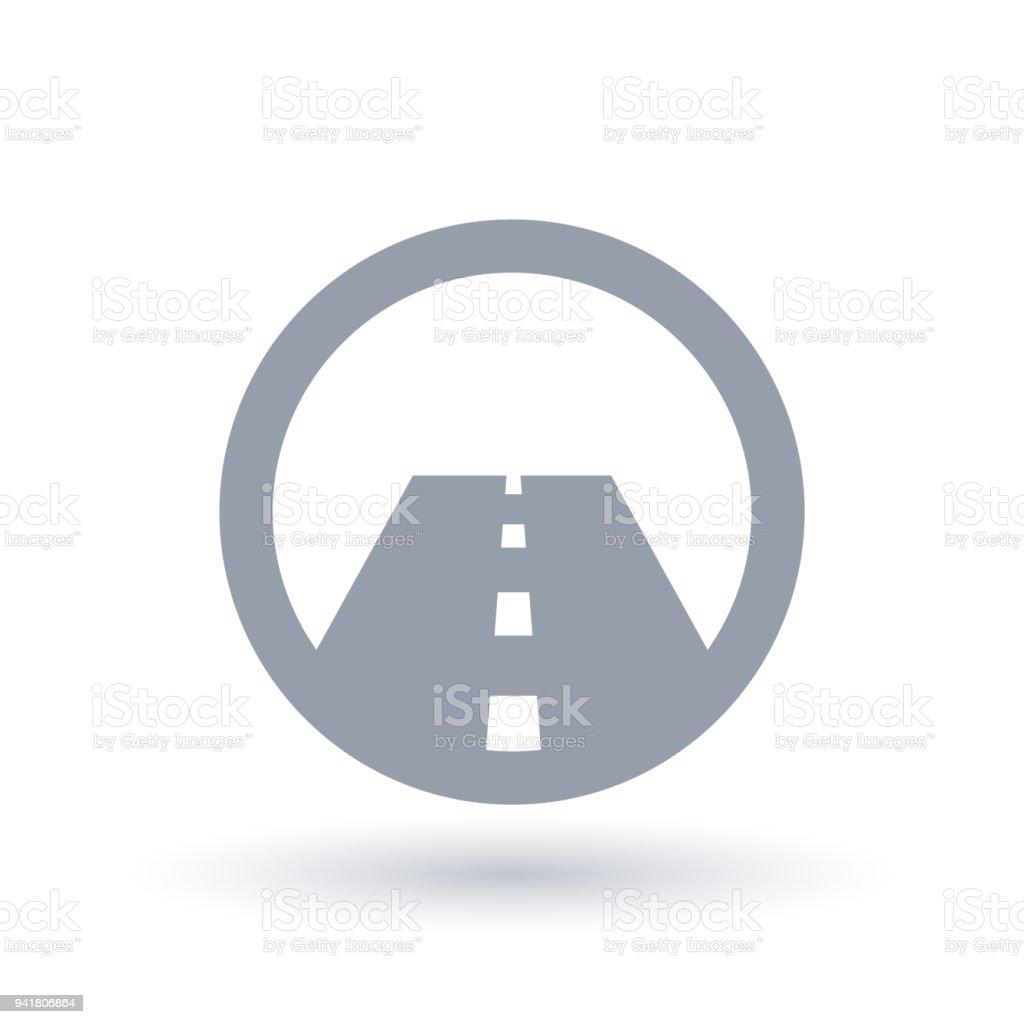 Icono de la recta asfaltada. Símbolo de calle. - ilustración de arte vectorial