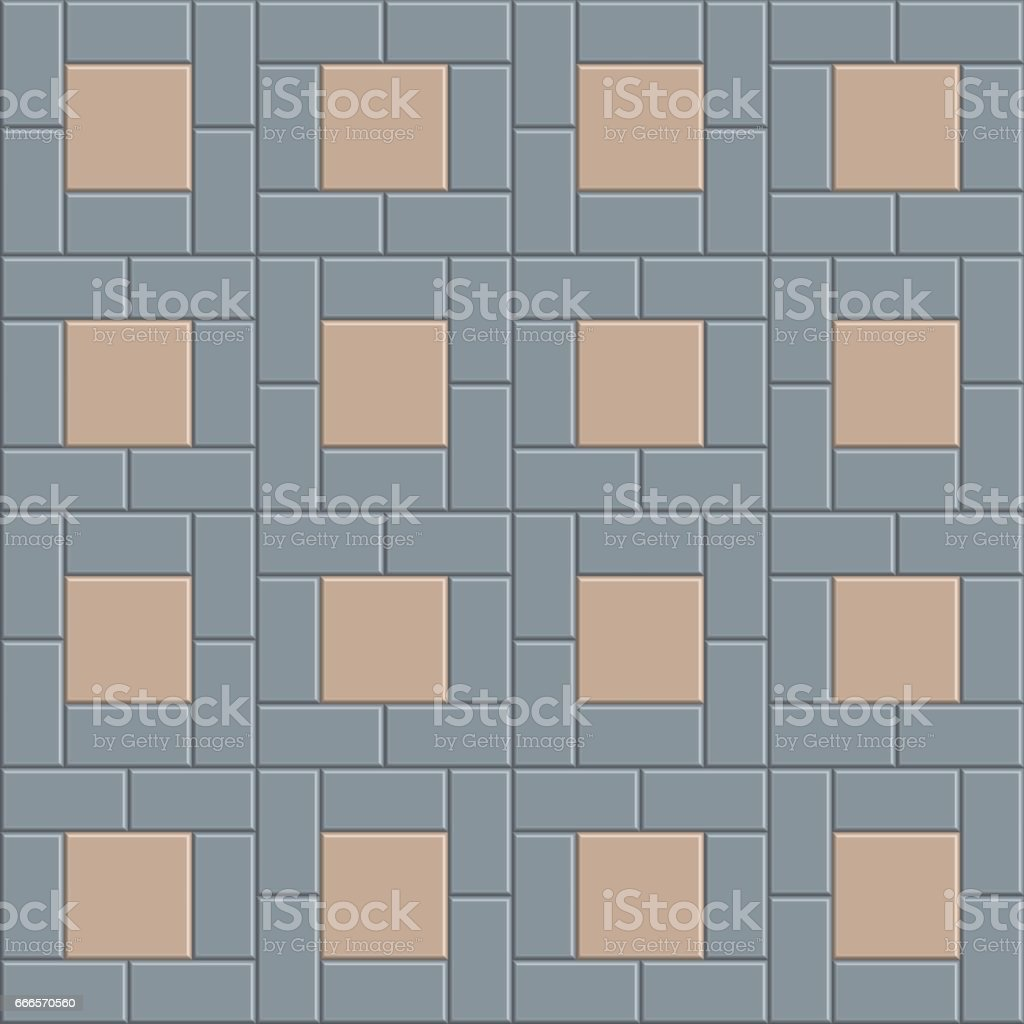 3d Pavement Tile Floor Stock Vector Art & More Images of Abstract ...