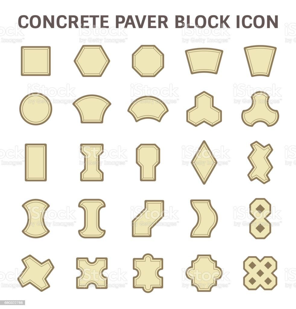 Paver Block Floor vector art illustration