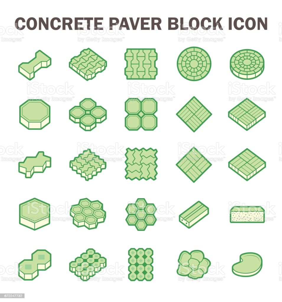 Paver block icon vector art illustration