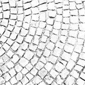 Paving stone pattern vector halftone texture overlay