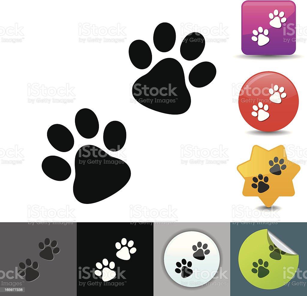 Paw icon | solicosi series royalty-free stock vector art