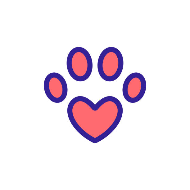Paw icon vector. Isolated contour symbol illustration Paw icon vector. Thin line sign. Isolated contour symbol illustration animal body part stock illustrations