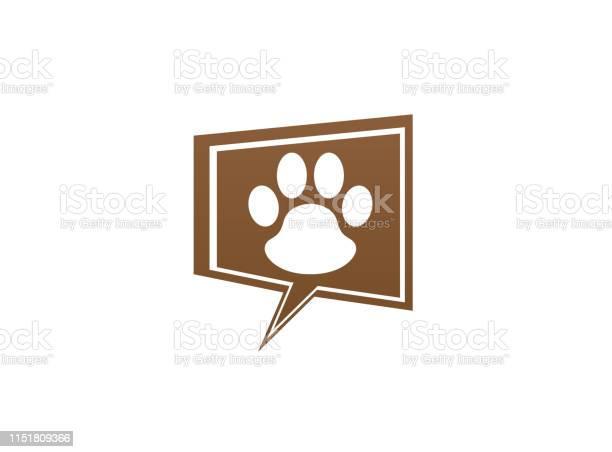 Paw inside an chat icon and footprint symbol logo design illustration vector id1151809366?b=1&k=6&m=1151809366&s=612x612&h=0y fxya c5r7haedkmwgwe2yzvzhfeajq3zlufyzbn4=