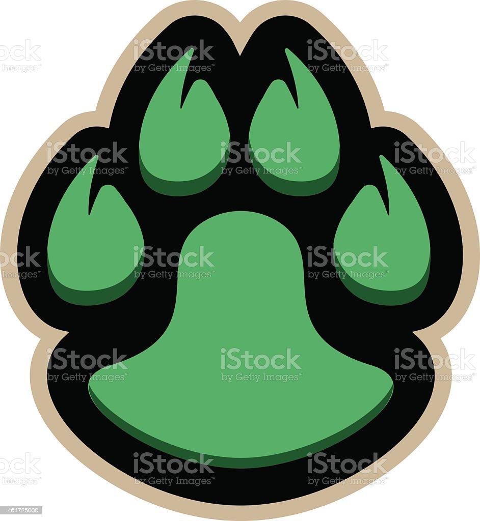 Paw Logo vector art illustration