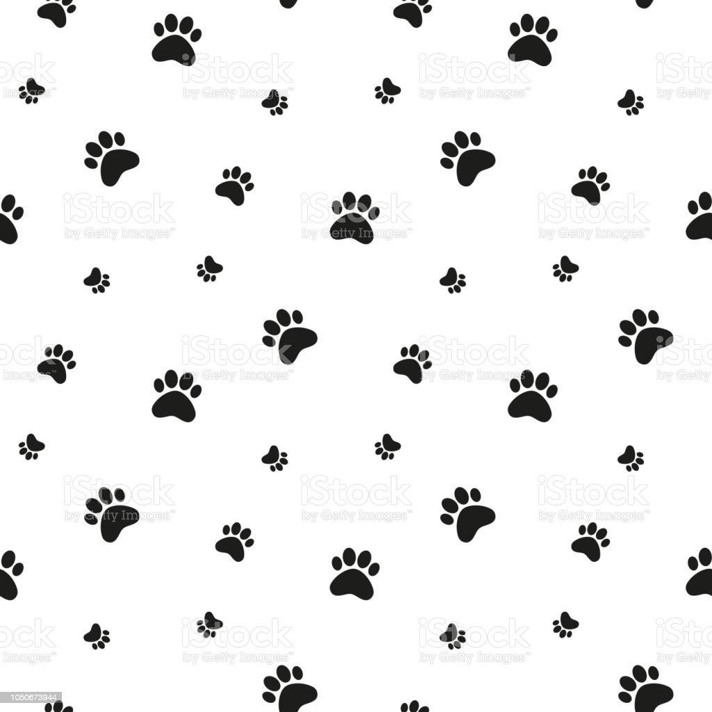 Paw print background stock illustration download image - Dog print wallpaper ...