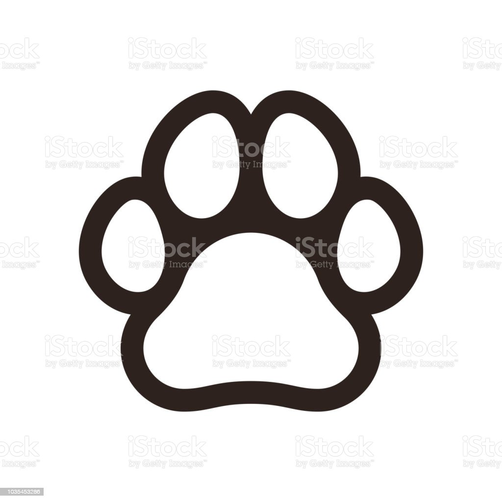 Royalty Free Dog Paw Print Clip Art Vector Images Illustrations