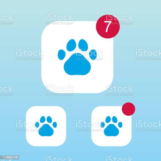 Paw print icon with notification vector id1128803182?b=1&k=6&m=1128803182&s=612x612&h=nc5ppb3xhx4dkhkvvm7kxschn1w cfrpzy3sfzdp820=