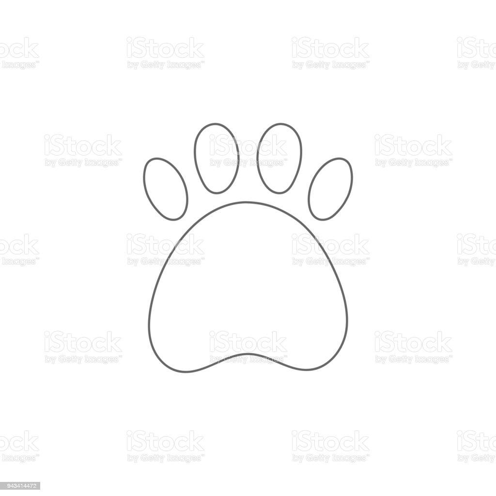 Amazing Animal, Bear, Footprint, Internet, Puppy. Paw Print Outline.