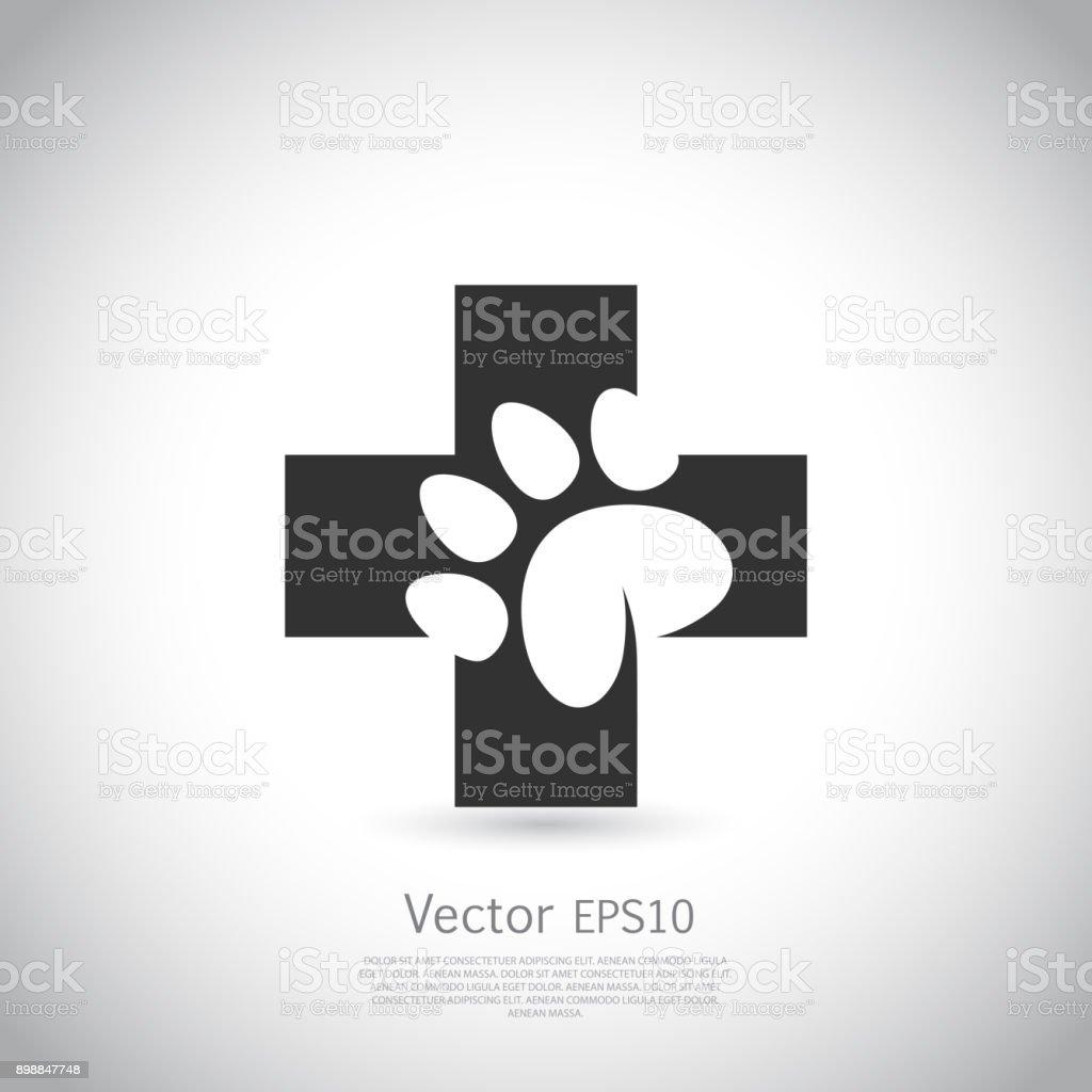 ペットの健康ケア市印刷アイコンを足します。 ベクターアートイラスト