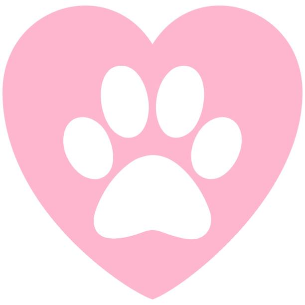 Download Best Paw Print Dog Paw Heart Shape Illustrations, Royalty ...