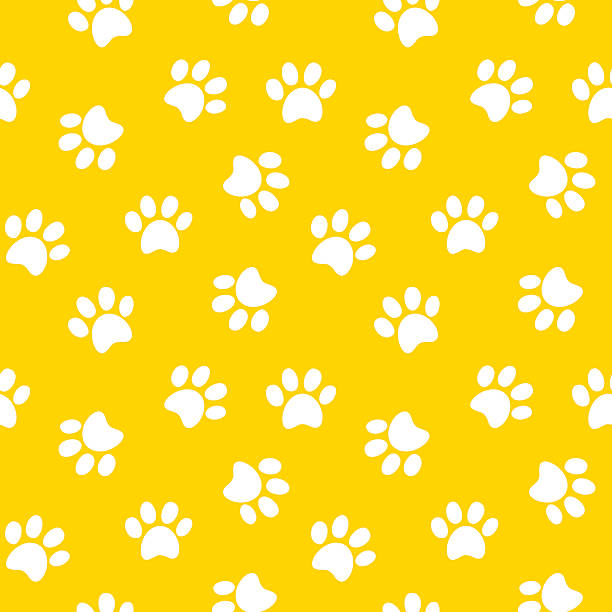 動物の足跡継ぎ目のないパターン - 子猫点のイラスト素材/クリップアート素材/マンガ素材/アイコン素材