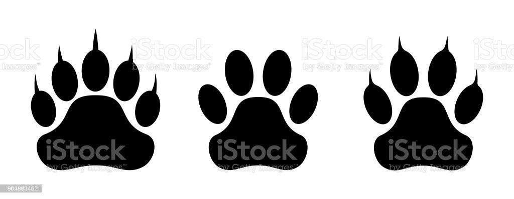 Paw print set. Vector illustration. royalty-free paw print set vector illustration stock vector art & more images of animal
