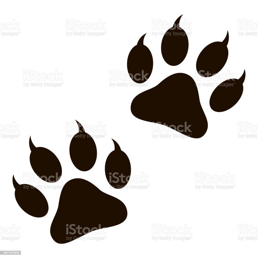 動物の足跡 - つま先のベクターアート素材や画像を多数ご用意 937187608