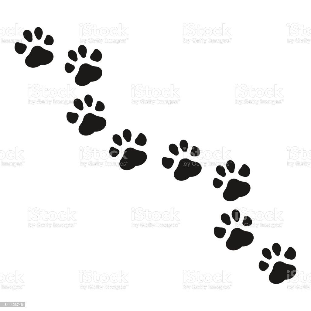 Ilustración de vector de impresión de la pata. - ilustración de arte vectorial