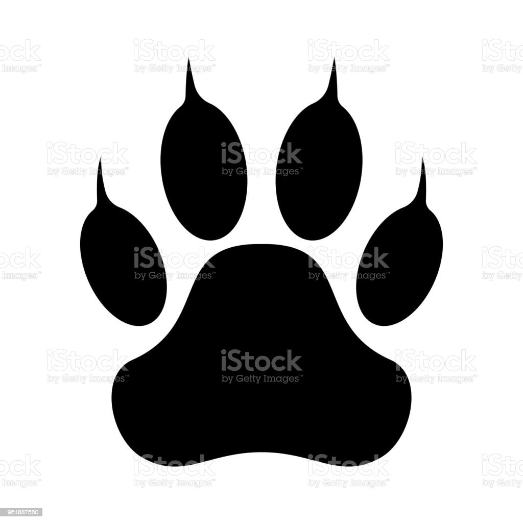 Paw print. Vector illustration. royalty-free paw print vector illustration stock vector art & more images of animal