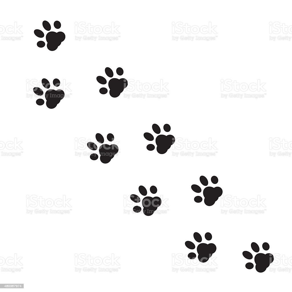 paw print vector stock vector art more images of 2015 480367974 rh istockphoto com vector paw print vector paw print outline