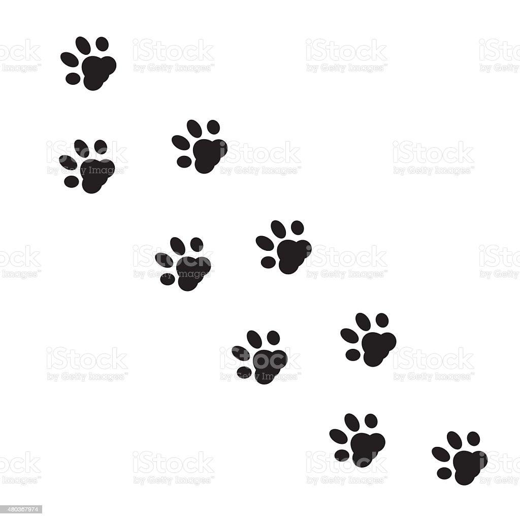 動物の足跡ますtm のイラスト素材 480367974 | istock
