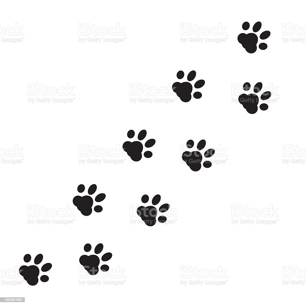 Paw Prints Walking Dog Vector - #1 Clip Art & Vector Site •