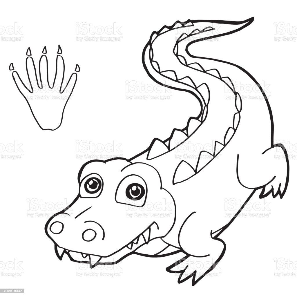 krokodil zum ausmalen  vorlagen zum ausmalen gratis