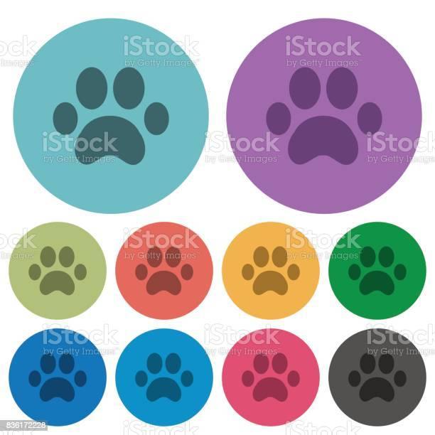 Paw prints color darker flat icons vector id836172228?b=1&k=6&m=836172228&s=612x612&h=jv5xslnsoyevimtezopddxolcpbpbmpnr4fy9d0vvsk=