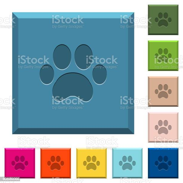 Paw prints engraved icons on edged square buttons vector id908989066?b=1&k=6&m=908989066&s=612x612&h=prisepgcbooym xa0lid niyj90c80tr9kwsckxeizw=