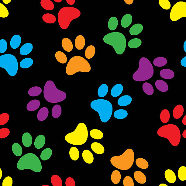 Best Background Of A Paw Prints Wallpaper Blue