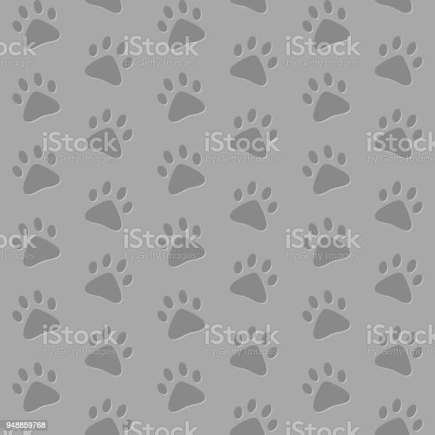 Paw prints vector seamless pattern gray background vector id948859768?b=1&k=6&m=948859768&s=612x612&h=ud5mrws54flzekiay06ilifd6l5hmrwtdo3x vxtcae=