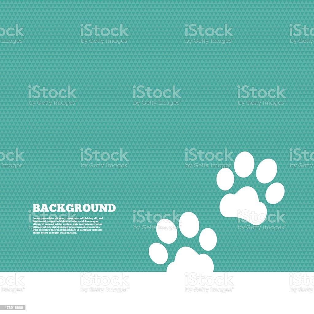 Paw sign icon. Dog pets steps symbol - Royaltyfri 2015 vektorgrafik
