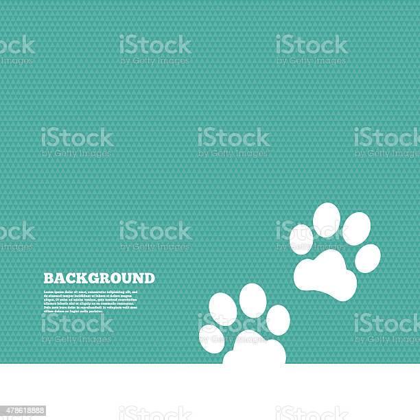 Paw Sign Icon Dog Pets Steps Symbol-vektorgrafik och fler bilder på 2015
