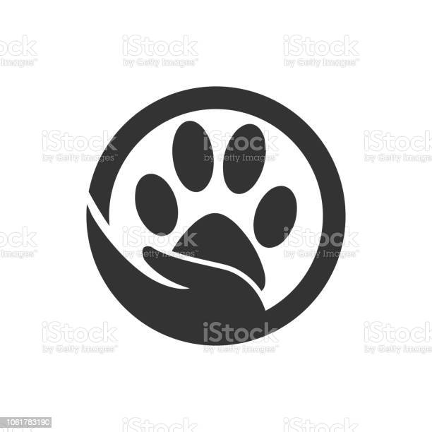 Paw silhouette in circle shape and hand vector id1061783190?b=1&k=6&m=1061783190&s=612x612&h=l1ebweonhpt7wpiqdkc9mkr38 q9np9eur qmxwozky=