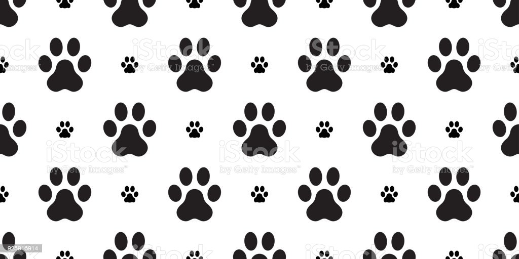 Paw Vector Dog Paw Seamless Pattern French Bulldog Isolated ...