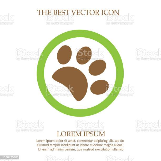 Paw vector icon eps 10 simple isolated footprint logo sign symbol vector id1146420481?b=1&k=6&m=1146420481&s=612x612&h=5tgdhvfqtcehoxocproeg3myyqvyhz095sfjg 6nwie=