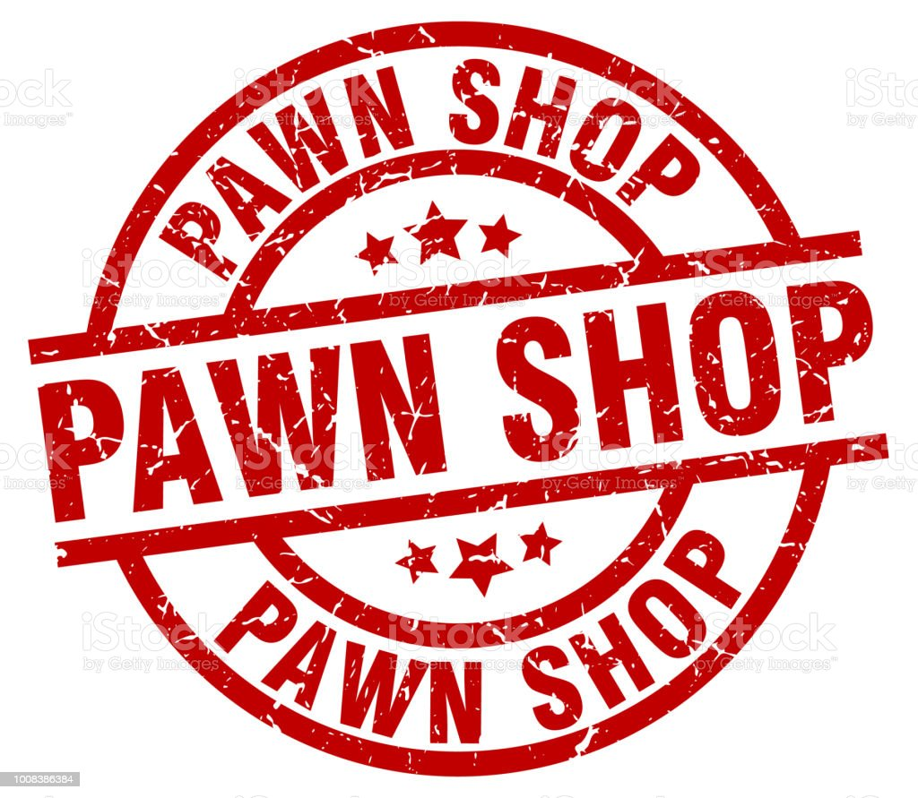 Pawn Shop Round Red Grunge Stamp Stock Vector Art & More Images of ...