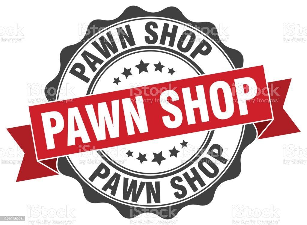 pawn shop stamp. sign. seal vector art illustration