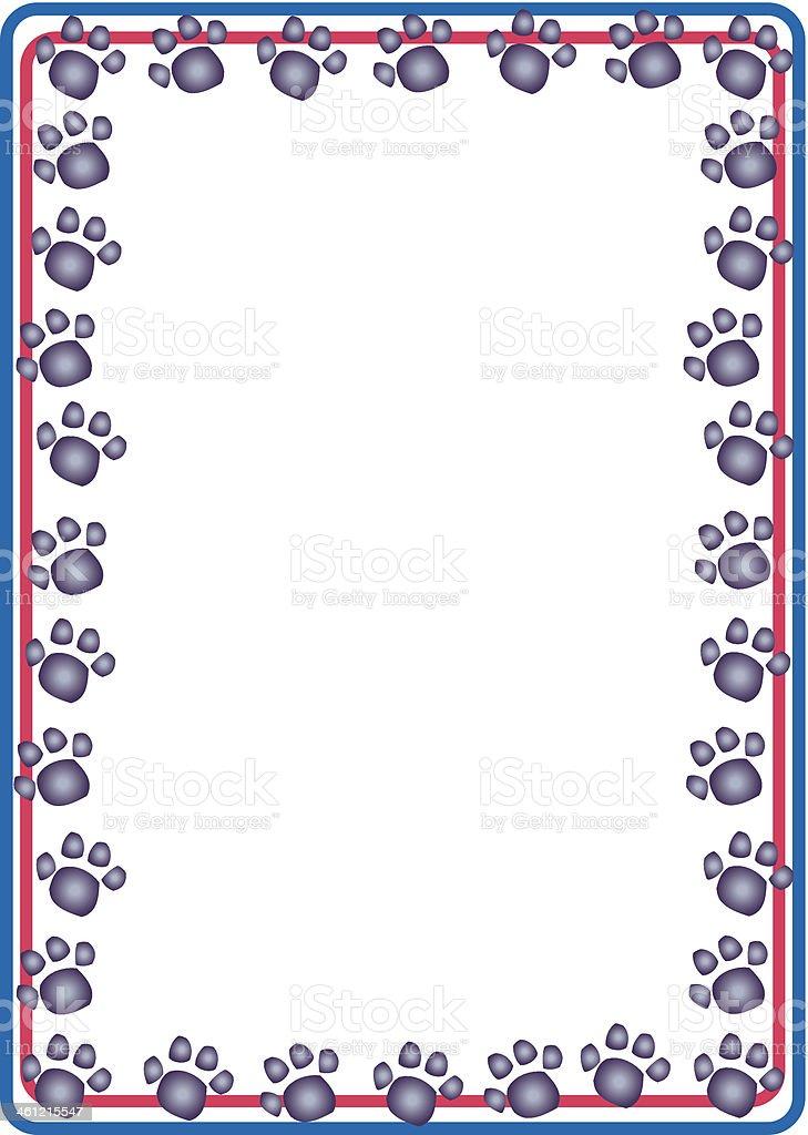 royalty free paw print border clip art vector images rh istockphoto com free cat paw print border clip art paw print border clip art free