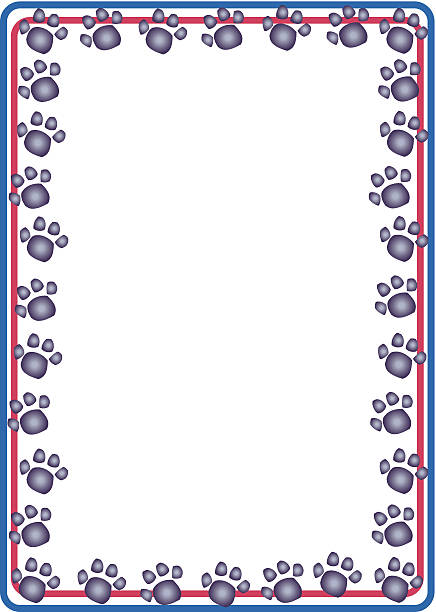 Royalty Free Paw Print Frame Clip Art, Vector Images & Illustrations ...