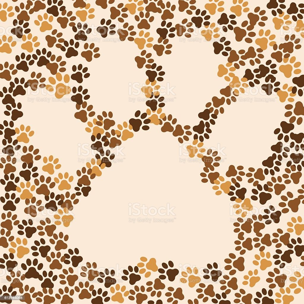 Paws animal cat dog background stock vector art more images of paws animal cat dog background royalty free paws animal cat dog background stock voltagebd Gallery