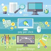 istock SEO, pay per click and graphic design 465739248