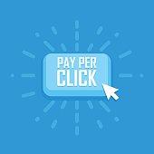 Pay per click concept flat icon. Vector illustration